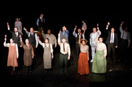 "The cast of Parade in the ""Old Red Hills of Home"""