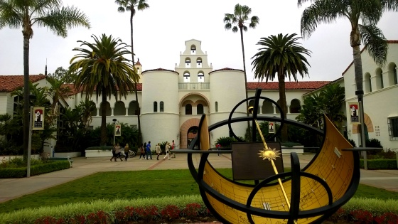 March 2014--The SDSU campus on a cloudy spring audition day.  Little did I know I'd be there every day one year later.