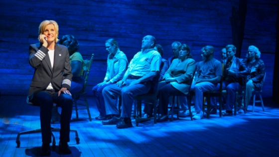 Jenn Colella shines in the role of pioneering pilot Beverley in the new musical Come From Away. (Kevin Berne/ La Jolla Playhouse)
