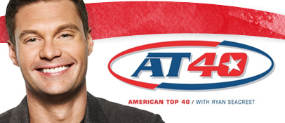 Ryan Seacrest, current host of 'AT40,' the successor of 'American Top 40.'