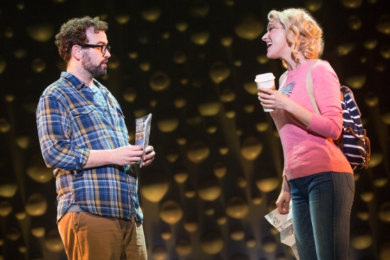 A thirty-something IT guy named Dan (Matt Bittner) and a spunky t-shirt designer named Lindsay (Betsy Wolfe) wonder whether they can really ever know each other. (Photo-Mathew Murphy