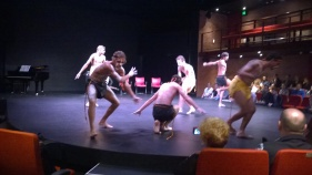 The Aboriginal Studies students at WAAPA greeted delegates of the MTEA Conference in the opening session.