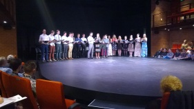 Each day featured a student presentation of a developing work by an Australian. These are WAAPA first year students performing excerpts of 'Atlantis' by Matthew Lee Robinson, himself a WAAPA grad.