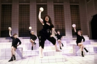 Kathi Moss as Saraghina in the original 1982 Broadway production of Nine.